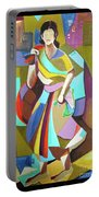 Lady In Mosaic Portable Battery Charger