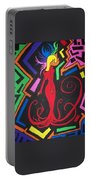 Lady In Red Portable Battery Charger