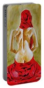 Lady In Red Three Portable Battery Charger