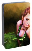 Lady In The Ferns Portable Battery Charger