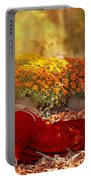 Lady In The Leaves Portable Battery Charger