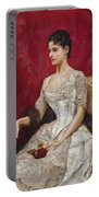 Lady In White Portable Battery Charger
