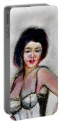 Lady Jane With Red Lipstick Portable Battery Charger