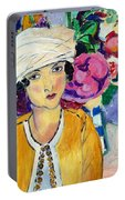 Lady Of Le Piviones Portable Battery Charger