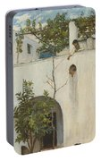 Lady On A Balcony, Capri Portable Battery Charger