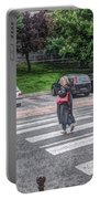 Lady On A Crossing Portable Battery Charger