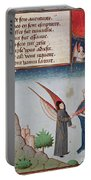 Lady Philosophy Leads Boethius In Flight Into The Sky On The Wings That She Has Given Him Portable Battery Charger