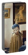 Lady Standing At The Virginal Portable Battery Charger