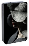 Lady With A Big Hat Portable Battery Charger