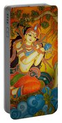 Lady With A Lotus Portable Battery Charger