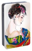 Lady With Kimono Portable Battery Charger