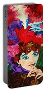 Lady With The Red Hat Portable Battery Charger
