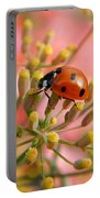 Ladybug On Fennel Portable Battery Charger