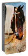 Ladys Jewels Horse Painting Portrait Portable Battery Charger