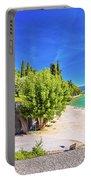 Lago Di Garda Beach In Sirmione View Portable Battery Charger