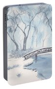 Lagoon Under Snow Portable Battery Charger