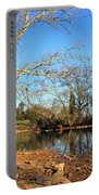 Lake And Trees In Early Spring Portable Battery Charger