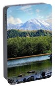 Lake And Volcano Portable Battery Charger