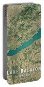 Lake Balaton 3d Render Satellite View Topographic Map Portable Battery Charger