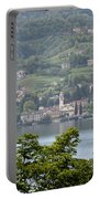Lake Como View From Villa Carlotta Italy Portable Battery Charger