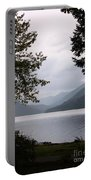 Lake Crescent Through The Trees Portable Battery Charger