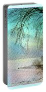 Lake Erie In Winter Portable Battery Charger