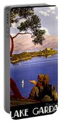 Lake Garda Vintage Poster Restored Portable Battery Charger