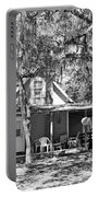Lake House Black And White Portable Battery Charger