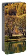 Lake In Autumn - 3 - French Alps Portable Battery Charger