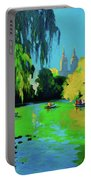 Lake In Central Park Ny Portable Battery Charger