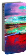 Lake In Red Portable Battery Charger