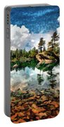 Lake Island View Portable Battery Charger