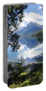 Lake Mcdlonald Through The Trees Glacier National Park Portable Battery Charger
