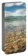 Lake Mcdonald In Glacier National Park At Sunset Portable Battery Charger