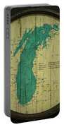 Lake Michigan Map Portable Battery Charger