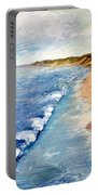 Lake Michigan With Whitecaps Ll Portable Battery Charger