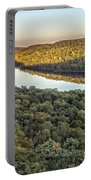 Lake Of The Clouds Sunset Portable Battery Charger