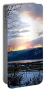 Lake Okanagan Sunset At Vernon Portable Battery Charger