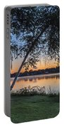 Lake Quannapowitt At Sunset Portable Battery Charger