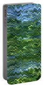 Lake Tahoe Abstract Portable Battery Charger by Carol Groenen
