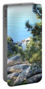 Lake Tahoe And Boulders Portable Battery Charger