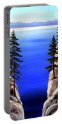 Lake Tahoe Framed Portable Battery Charger