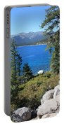 Lake Tahoe With Mountains Portable Battery Charger