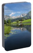 Lake Vorderer Schwendisee Portable Battery Charger by Yair Karelic