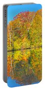 Lakeside Autumn Reflections Nj Portable Battery Charger