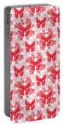 Lalabutterfly Red And White Portable Battery Charger
