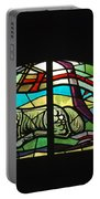 Lamb Stained Glass Window Portable Battery Charger