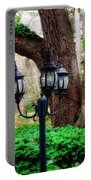 Lamppost And Oak Portable Battery Charger