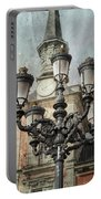 Lamppost Plaza Mayor Madrid Spain Portable Battery Charger