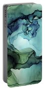 Land And Water Abstract Ink Painting Portable Battery Charger